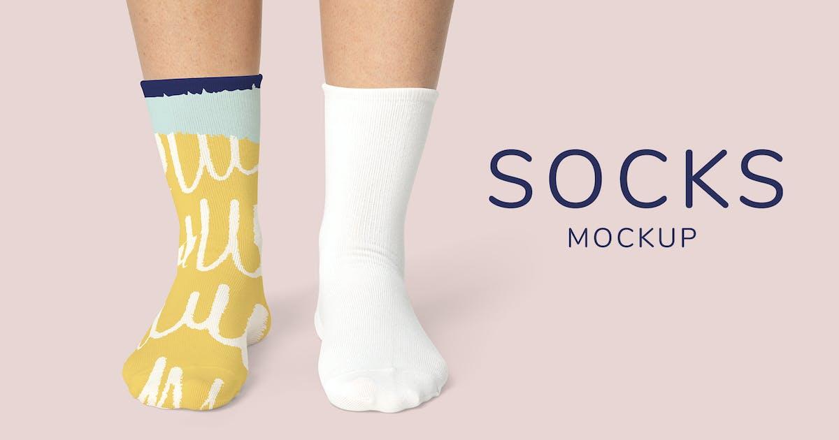 Download Socks Mockup Template by Rawpixel