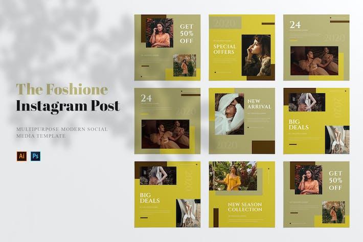 Thumbnail for Пост в социальных сетях Foshione