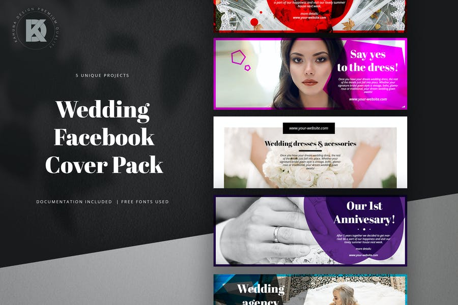 Facebook Wedding Cover Pack