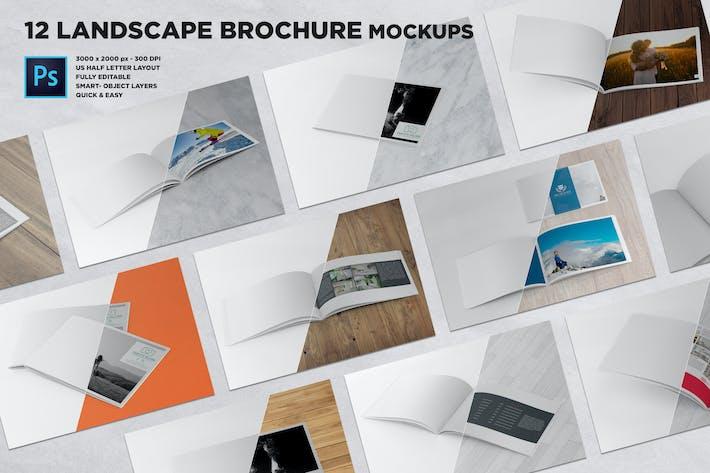 US Half Letter Brochure Mockups