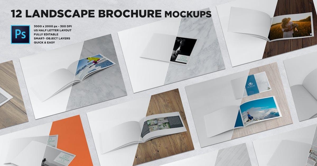 Download US Half Letter Brochure Mockups by andre28
