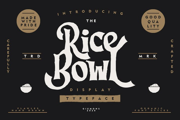 Thumbnail for Ricebowl Typeface