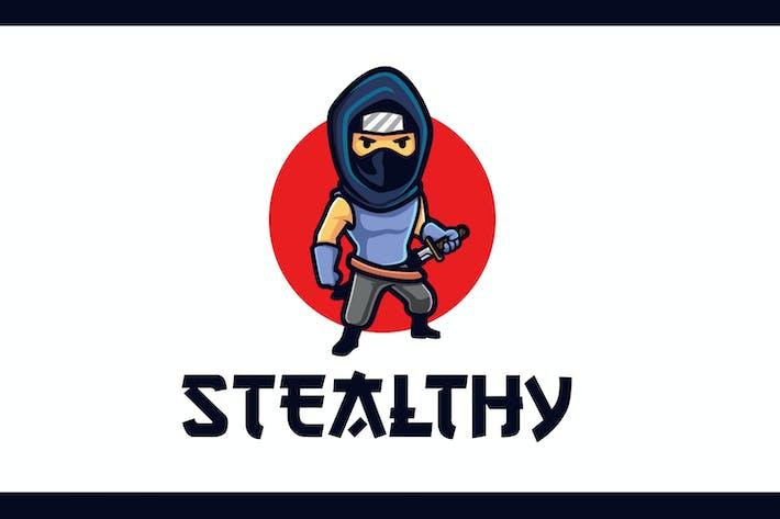 Thumbnail for Cartoon Stealthy Ninja Mascot Logo