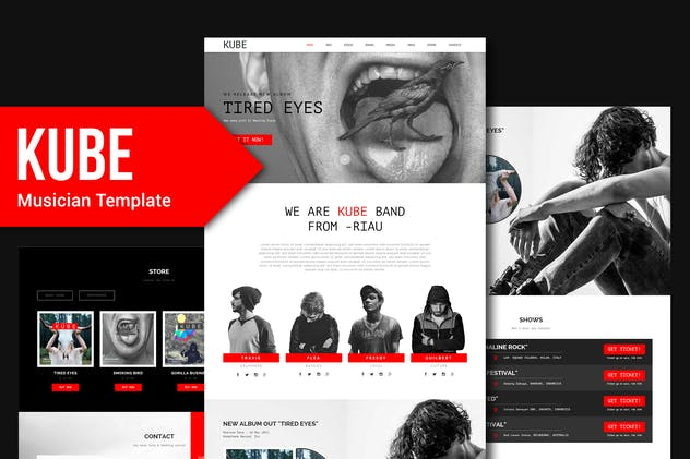Kube - Musician, DJ, Band, Music Muse Template YR
