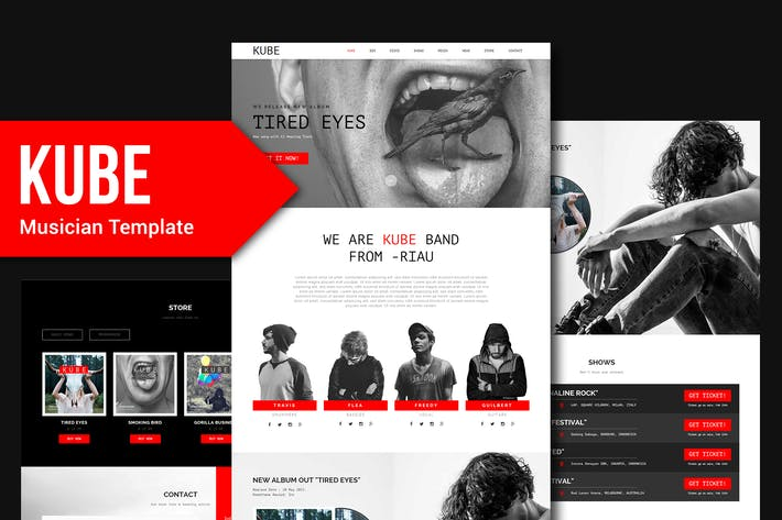 Thumbnail for Kube - Musician, DJ, Band, Music Muse Template YR