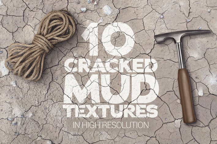 Thumbnail for Cracked Mud Textures x10
