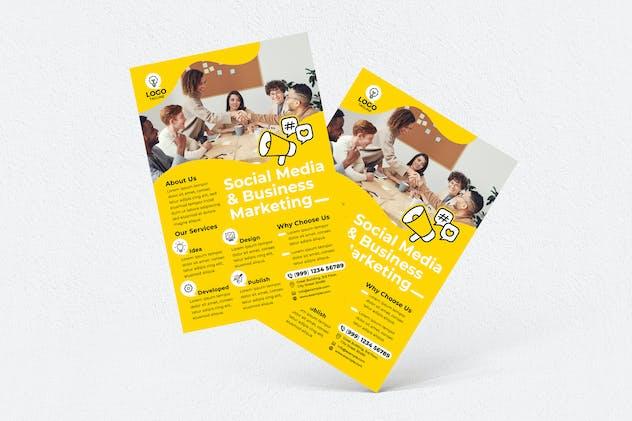 Social Media & Business Marketing Agency Flyer
