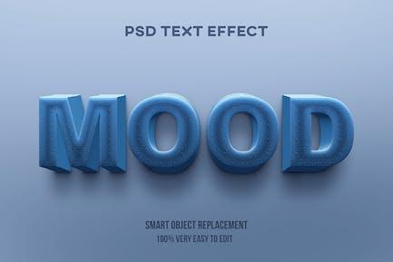 Efecto de texto de piedra azul