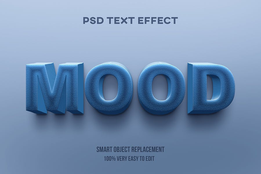 Blue stone text effect