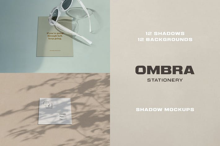 Thumbnail for Ombra Stationery Shadow Mockups