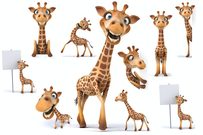 Thumbnail for 10 fun giraffes !