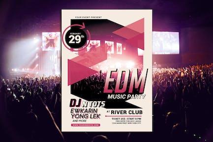 EDM Music Party Flyer