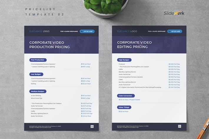 Thumbnail for Service Pricelist Template 02 - Slidewerk