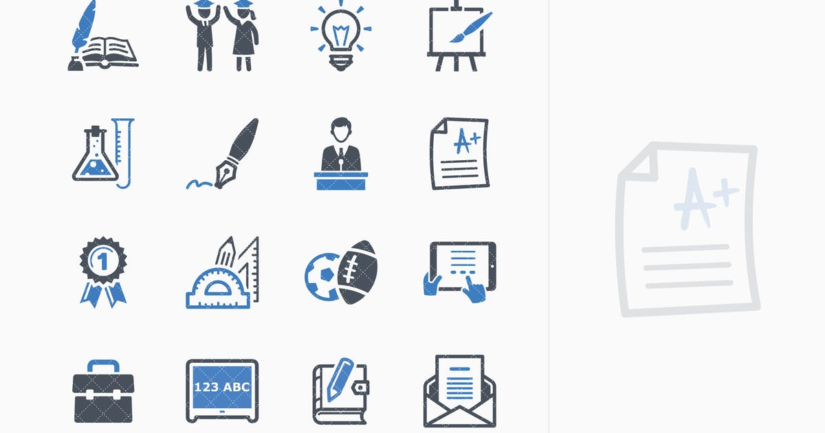 Download Education Icons Set 4 - Blue Series by introwiz1