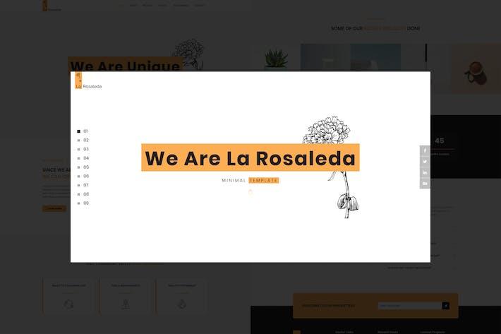 Thumbnail for La Rosaleda - Creative HTML Template