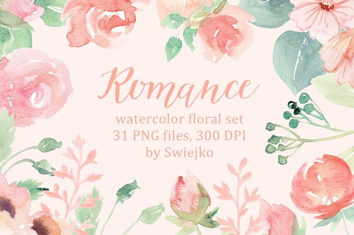 Thumbnail for Romantic Watercolor Flowers
