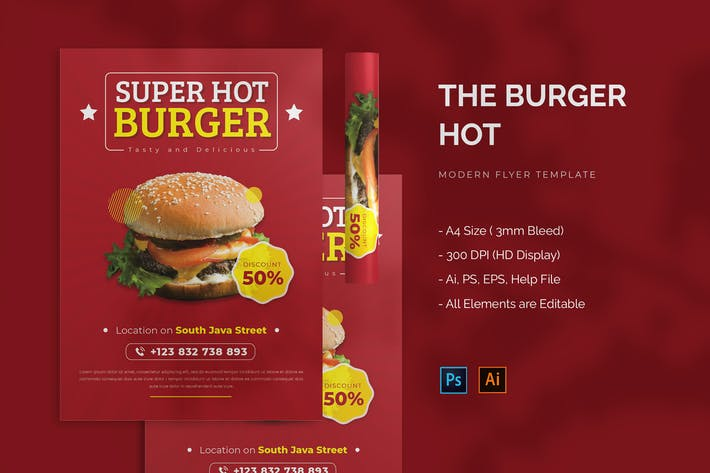 Hot Burger - Flyer