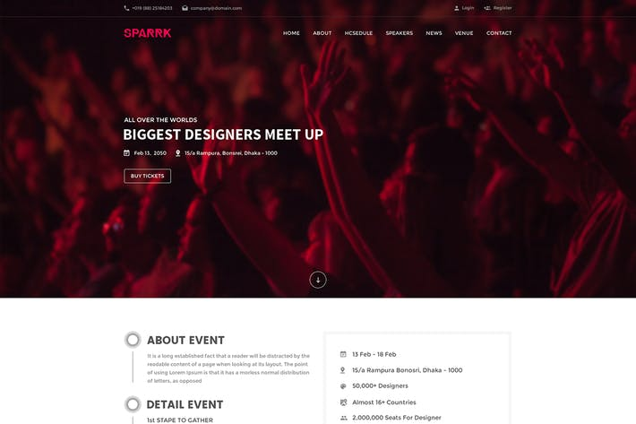 Thumbnail for Sparrk - Event PSD Template