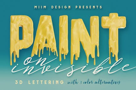 Painting On Invisible - 3D Lettering