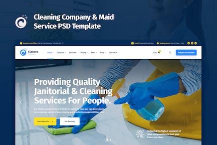 Clanora - Modèle PSD des services de nettoyage