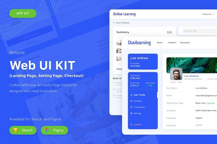 Thumbnail for Learning Website UI Kit