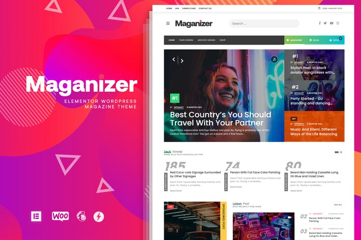 Maganizer - Modern Magazine WordPress Theme