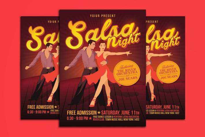 Thumbnail for Salsa Night Flyer Template