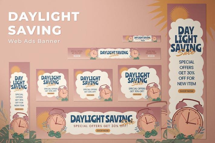 Daylight Saving - Web Ads Banners