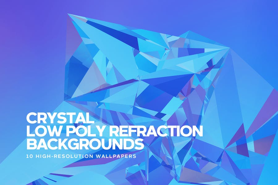 Crystal Low Poly Refraction Backgrounds