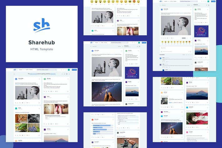 Thumbnail for Sharehub Content Sharing HTML Template