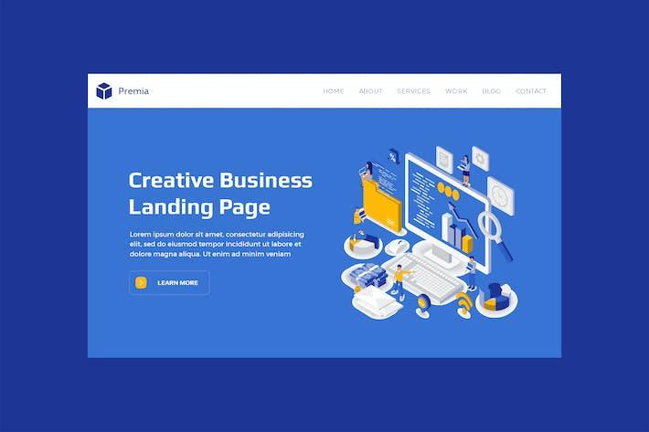 Thumbnail for Premia - Hero Banner Landing Page Design