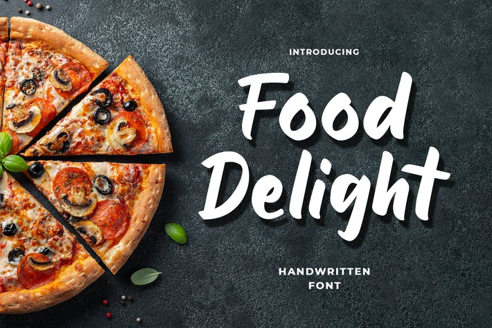 Thumbnail for Food Delight Script and Handwritten  Font