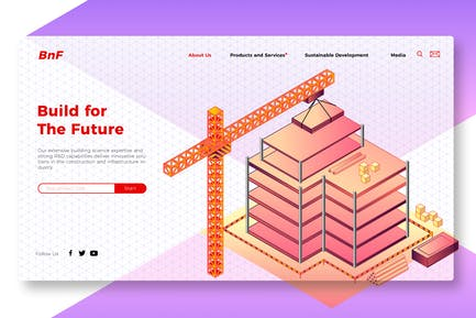Build the Future - Banner & Landing Page