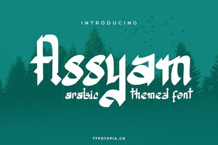 Assyam – Arabic Themed Typeface
