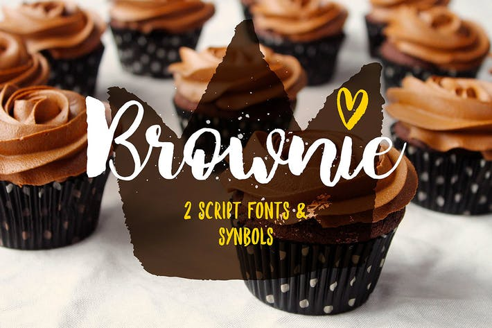 Thumbnail for Brownie Brush Font