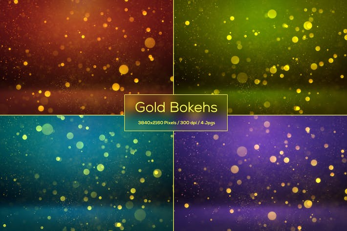 Thumbnail for Gold Bokeh Backgrounds