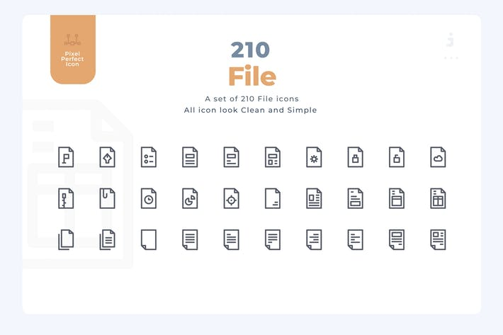 Thumbnail for 210 File and Document Icons - Material Icon