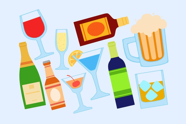 Thumbnail for Alcohol Beverages Clipart