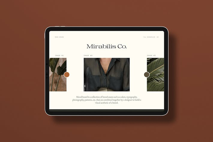 Thumbnail for Mirabilis Brand Boards - Photoshop Template