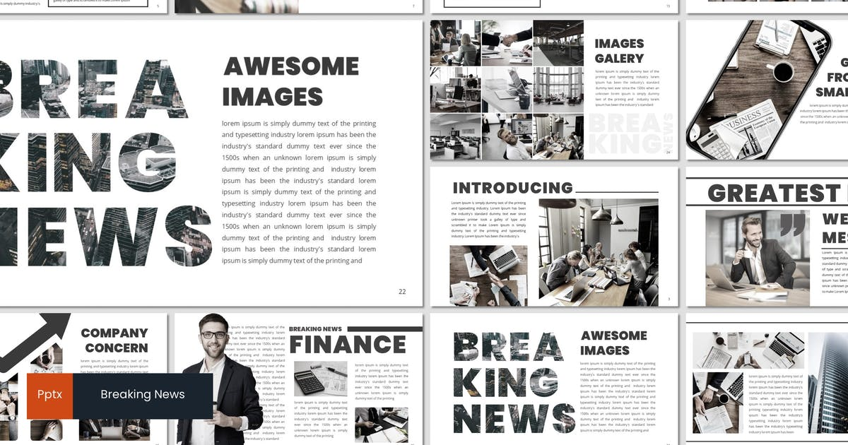 Download Breaking News - Powerpoint Template by inspirasign