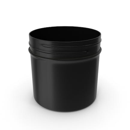 Plastic Jar Wide Mouth Straight Sided 2oz Without Cap Black