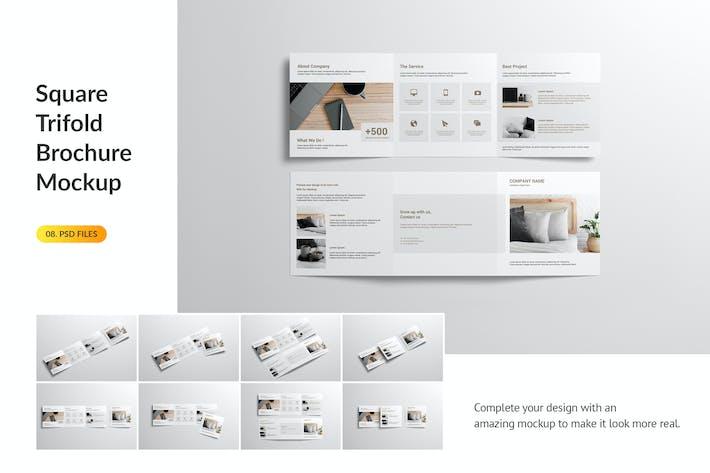 Thumbnail for Maquette de brochure à trois volets carrés