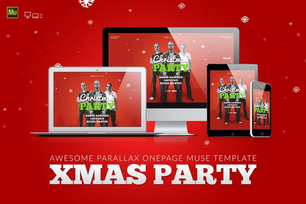 XMas - Christmas / New Year Event Muse Template