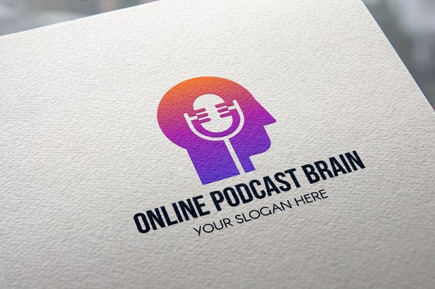 Online Podcast Brain Logo