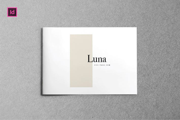 LUNA -  A5 Landscape Lookbook template