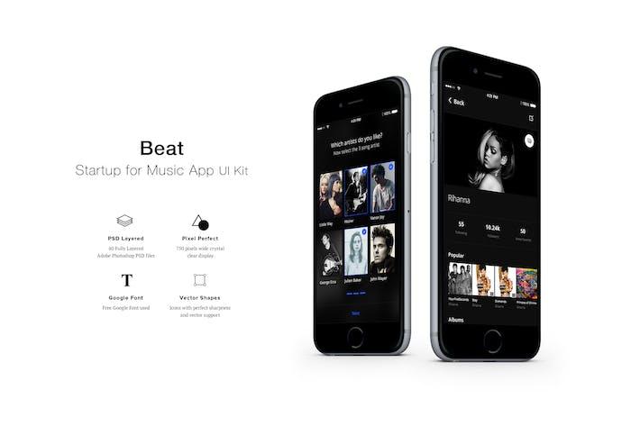 Kit d'interface utilisateur de Appli Beat Music