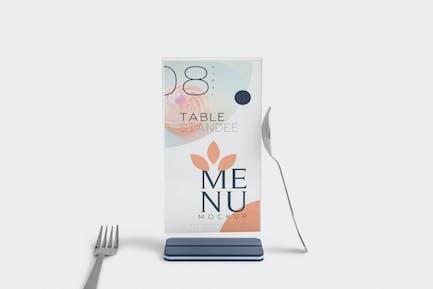 Table Menu Mockups