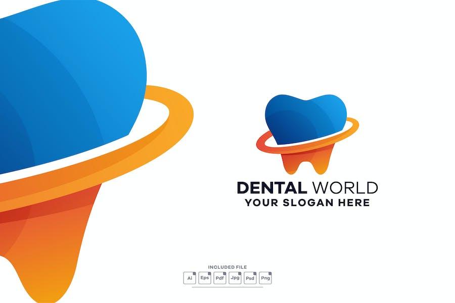 Dental Gradient Colorful Logo Template