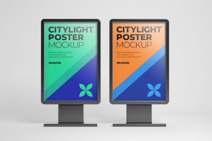 Citylight Digital Poster Mockup