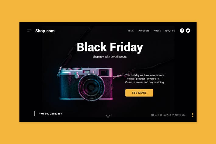 Thumbnail for Black Friday Shopping - Landing Page